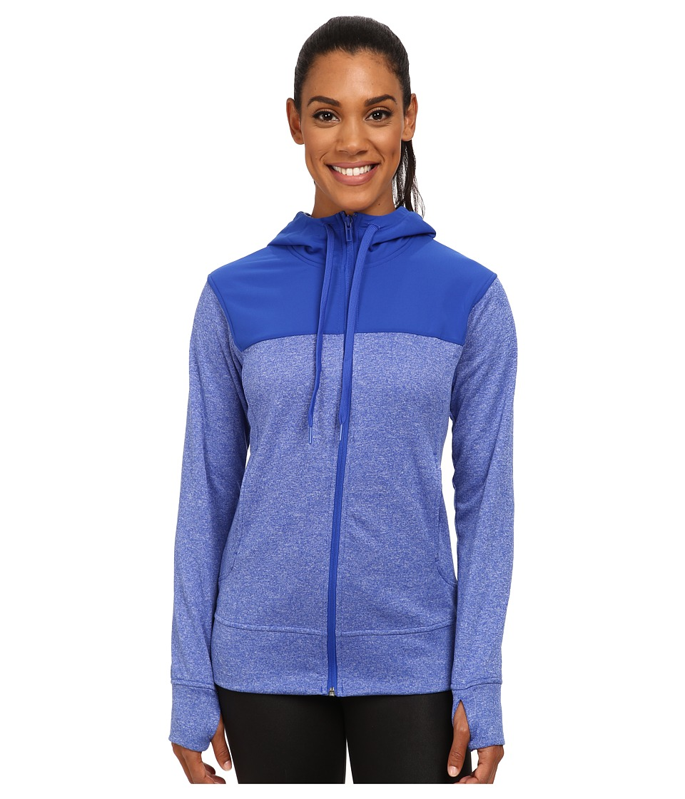 adidas - Go-To Fleece Full Zip Hoodie (Bold Blue) Women's Sweatshirt