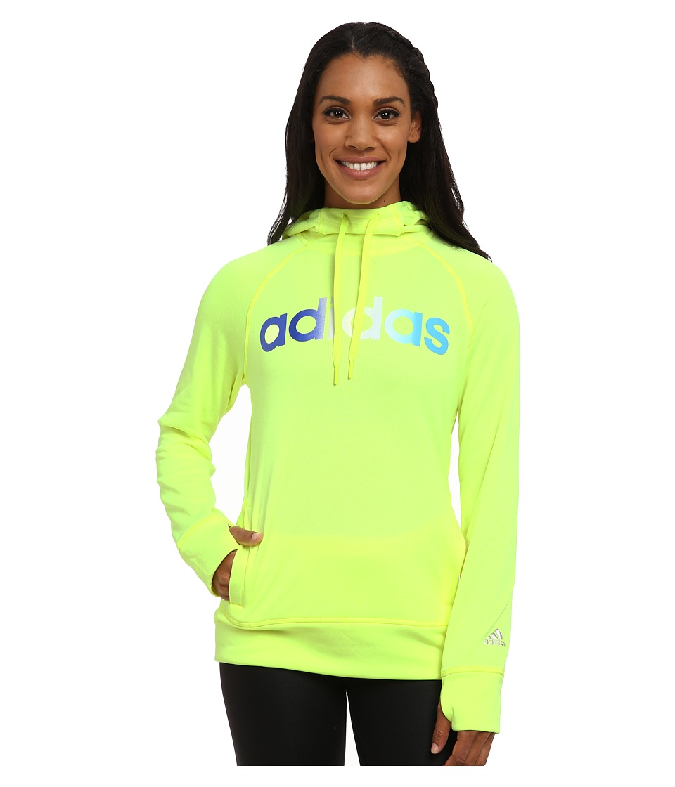 adidas - Ultimate Fleece Pullover Hoodie (Solar Yellow) Women's Sweatshirt