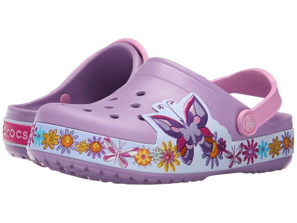 Crocs Kids - Crocband Butterfly Clog (Toddler/Little Kid) (Iris) Girls Shoes