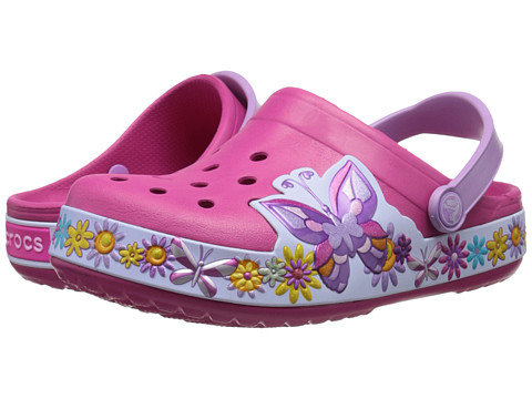Crocs Kids - Crocband Butterfly Clog (Toddler/Little Kid) (Candy Pink) Girls Shoes