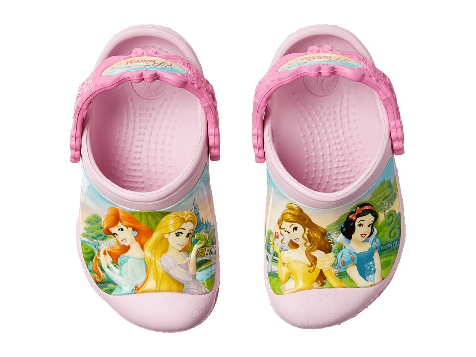 Crocs Kids - Princess Friends Clog (Toddler/Little Kid) (Ballerina Pink/Party Pink) Girls Shoes