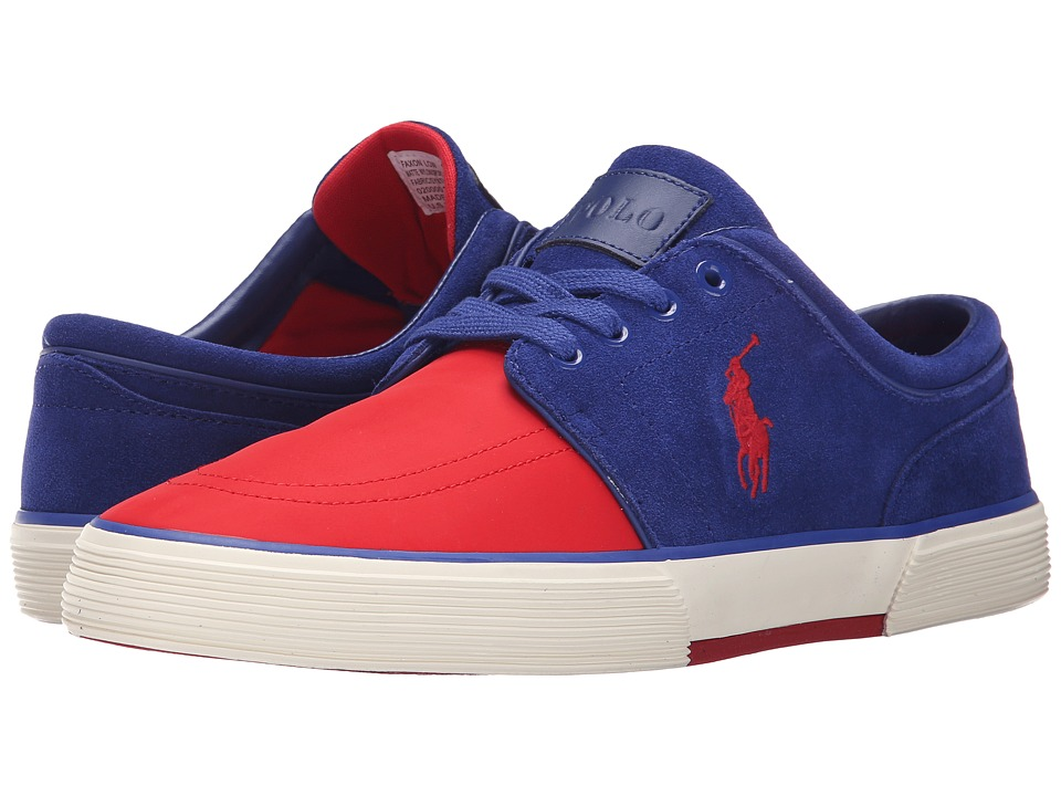 Polo Ralph Lauren - Faxon Low (RL 2000 Red/Foster Blue) Men's Lace up casual Shoes