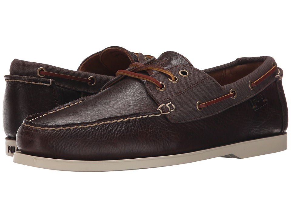 Polo Ralph Lauren - Bienne II (Brown/Dark Brown) Men's Lace up casual Shoes