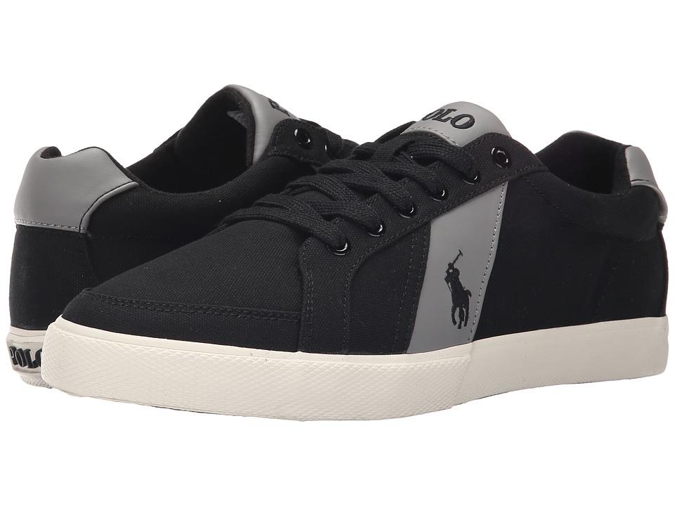 Polo Ralph Lauren - Hugh (Polo Black/Museum Grey) Men's Lace up casual Shoes