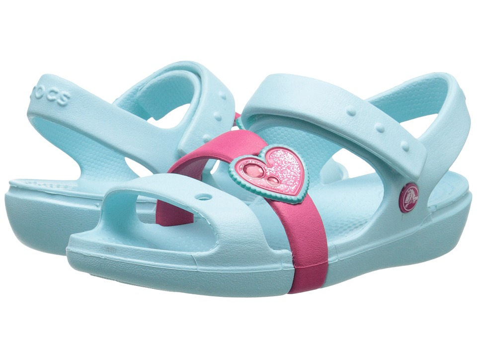Crocs Kids - Keeley Springtime Sandal PS (Toddler/Little Kid) (Blue/Raspberry) Girls Shoes