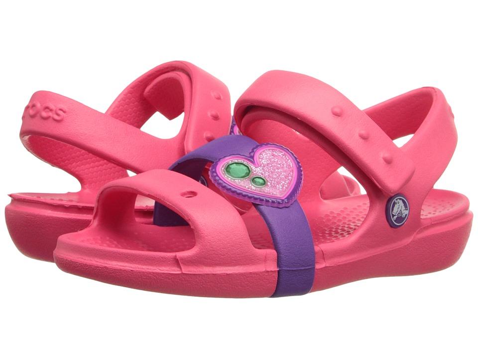 Crocs Kids - Keeley Springtime Sandal PS (Toddler/Little Kid) (Coral/Amaethyst) Girls Shoes