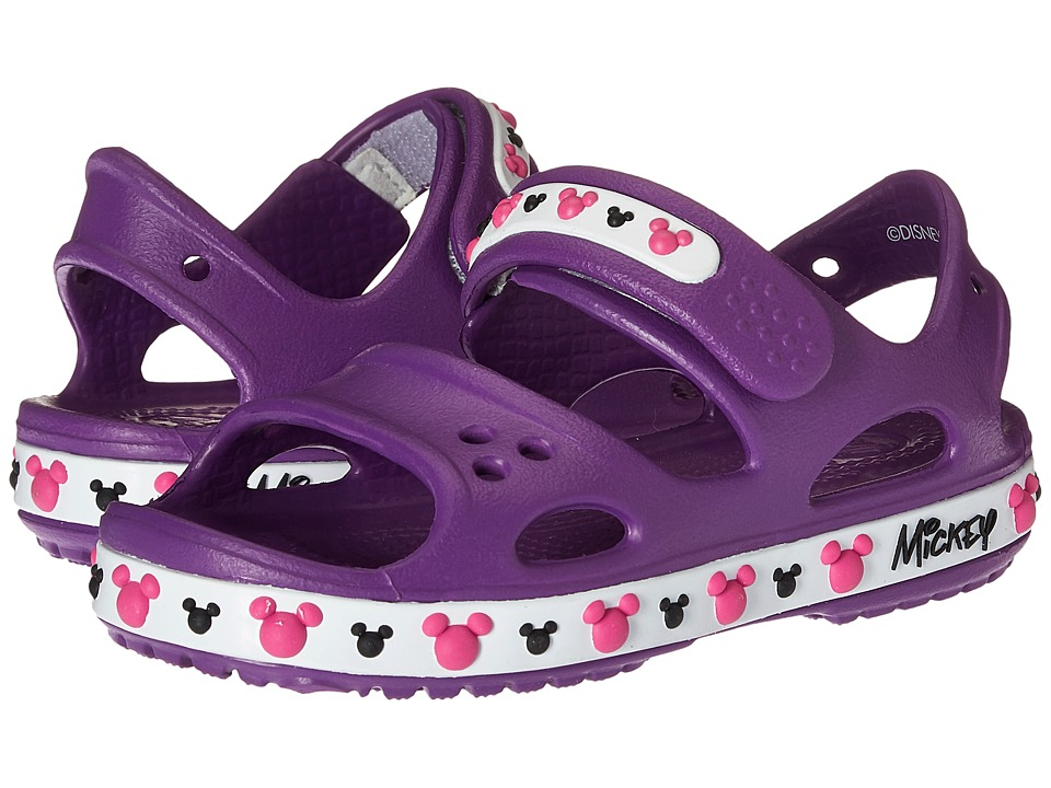 Crocs Kids - Crocband II Mickey Sandal (Toddler/Little Kid) (Amethest) Girls Shoes
