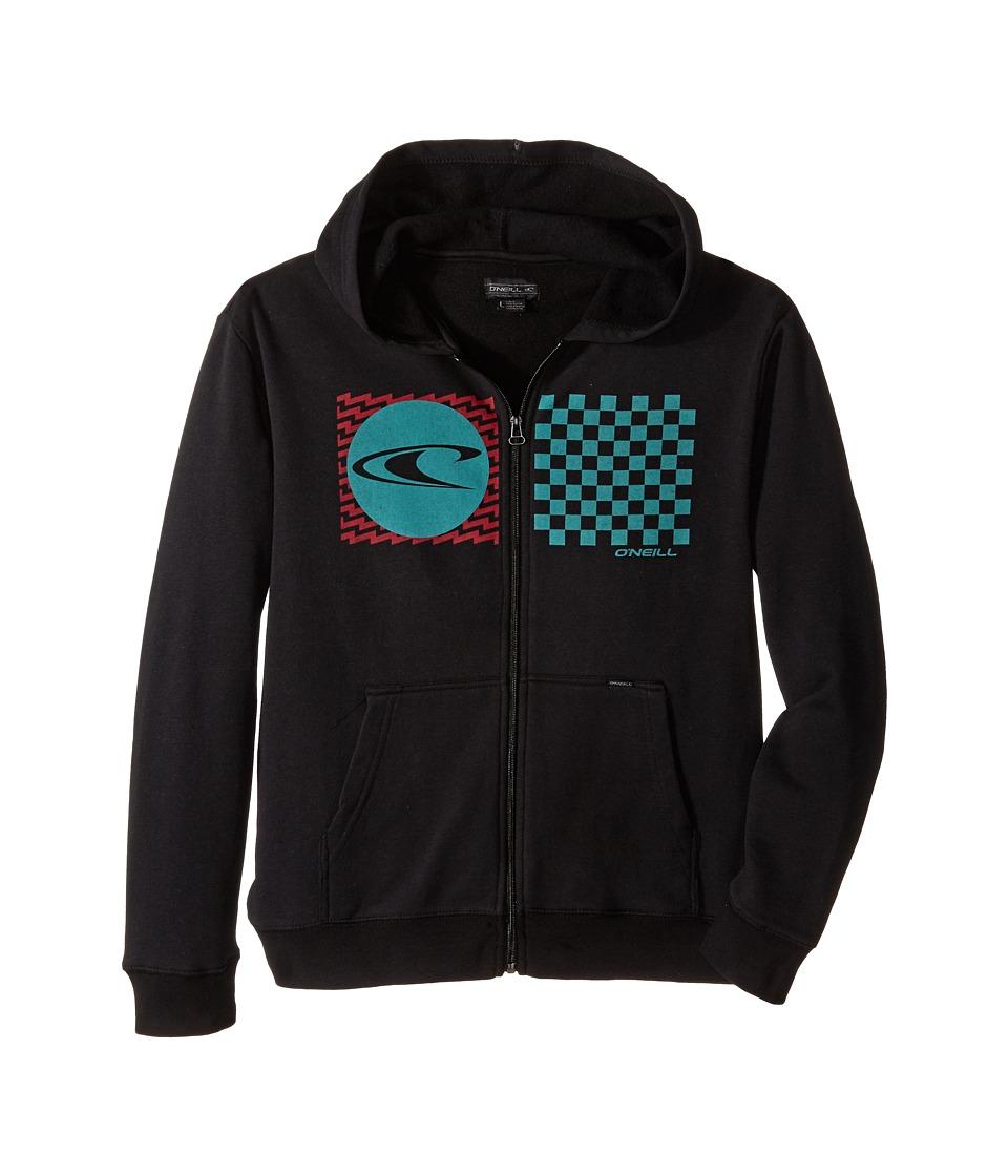 O'Neill Kids - Stateside Zip Fleece Top w/ Hood (Big Kids) (Black) Boy's Sweatshirt