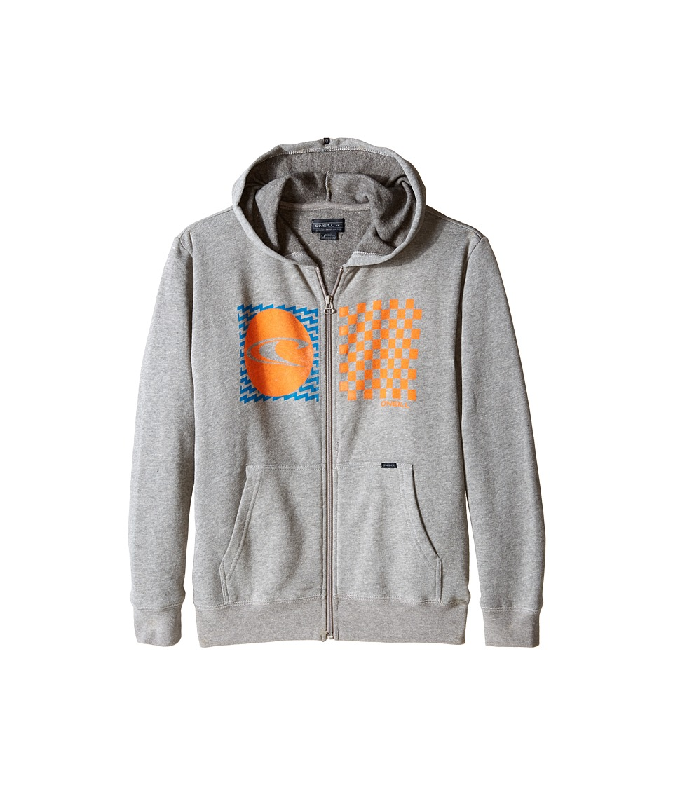 O'Neill Kids - Stateside Zip Fleece Top w/ Hood (Big Kids) (Medium Heather Grey) Boy's Sweatshirt
