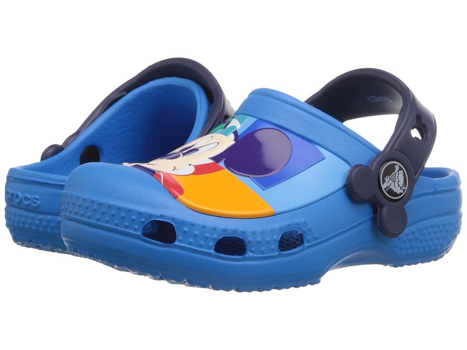 Crocs Kids - Mickey Color Block Clog (Toddler/Little Kid) (Ocean/Natical Navy) Kids Shoes