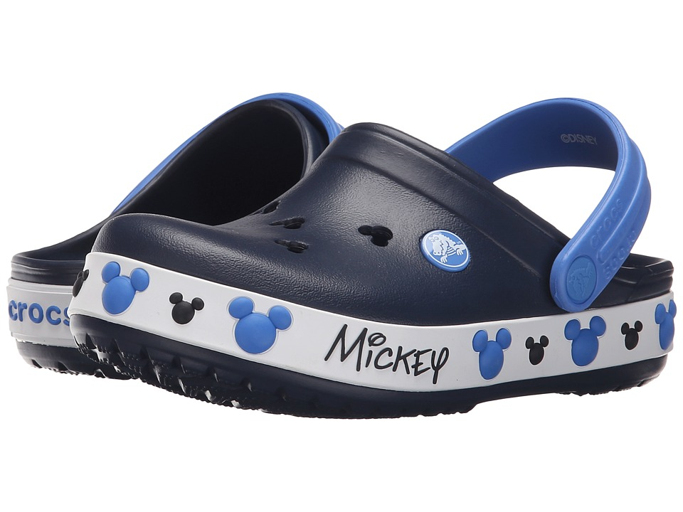 Crocs Kids - Crocband Mickey IV Clog (Toddler/Little Kid) (Navy) Kids Shoes