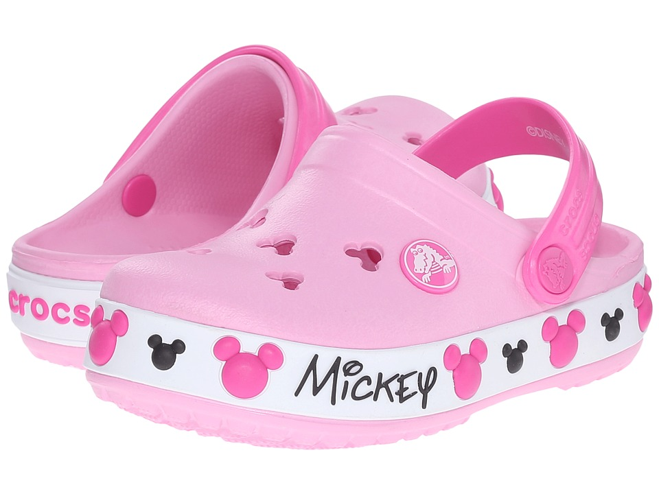 Crocs Kids - Crocband Mickey IV Clog (Toddler/Little Kid) (Carnation) Kids Shoes
