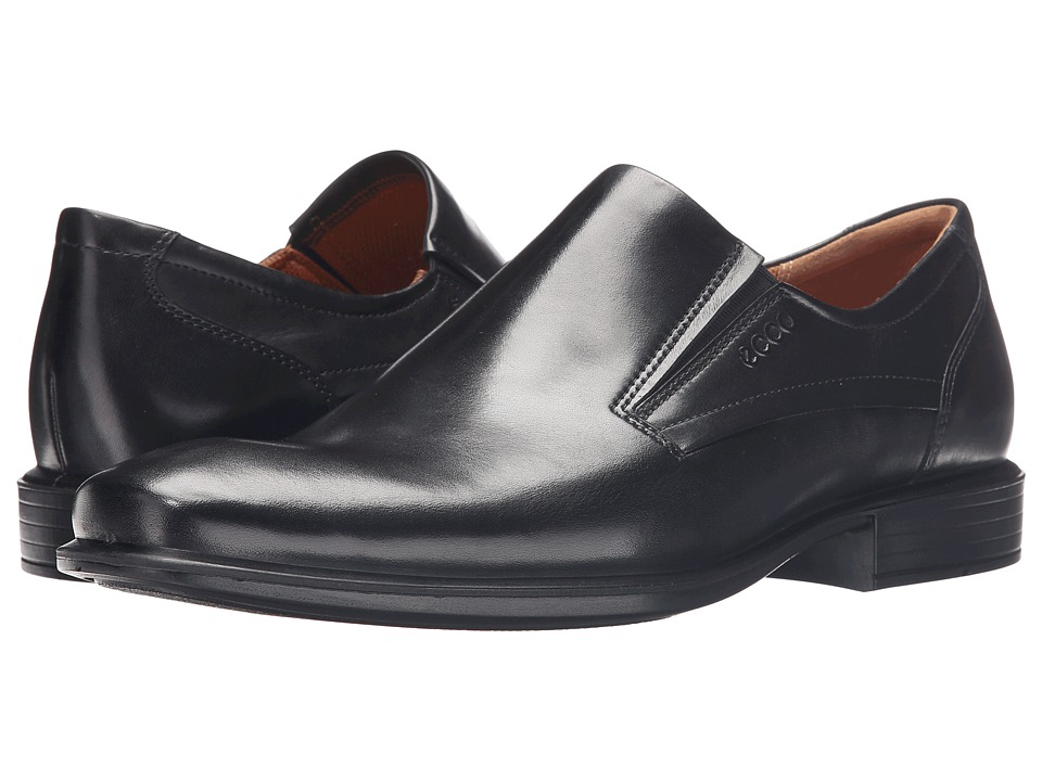ECCO - Cairo Plain Toe Slip On (Black) Men's Slip on Shoes