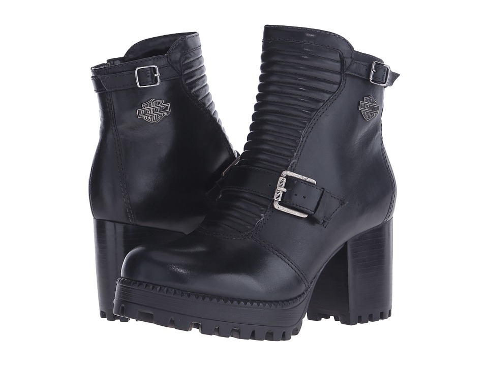 Harley-Davidson - Canell (Black) Women's Zip Boots