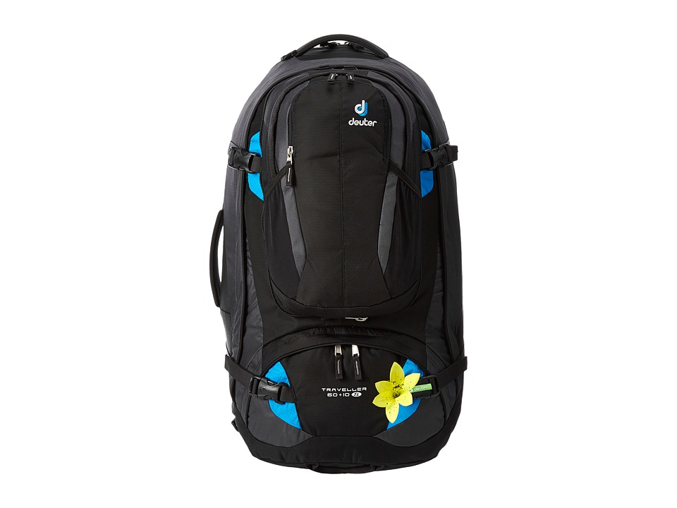 Deuter - Traveller 60+10 SL (Black/Turquiose) Backpack Bags