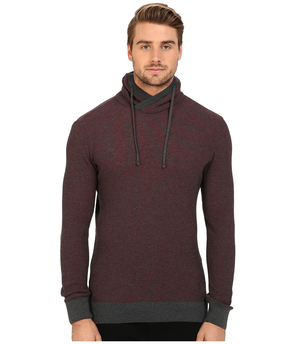 Mavi Jeans - Crawl Neck Sweater (Dark Grey Melange) Men's Sweater