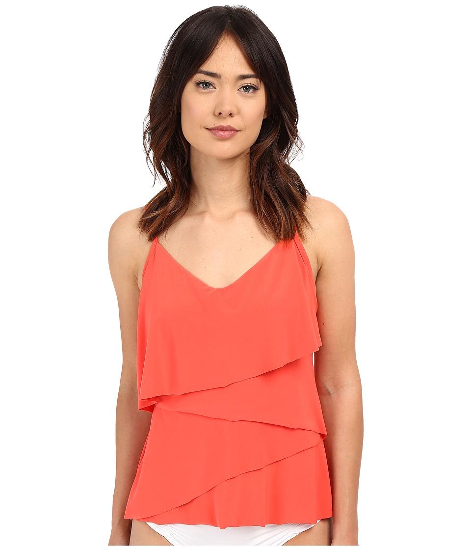 Magicsuit - Solid Chloe Soft Cup Tankini Top (Guava) Women's Swimwear