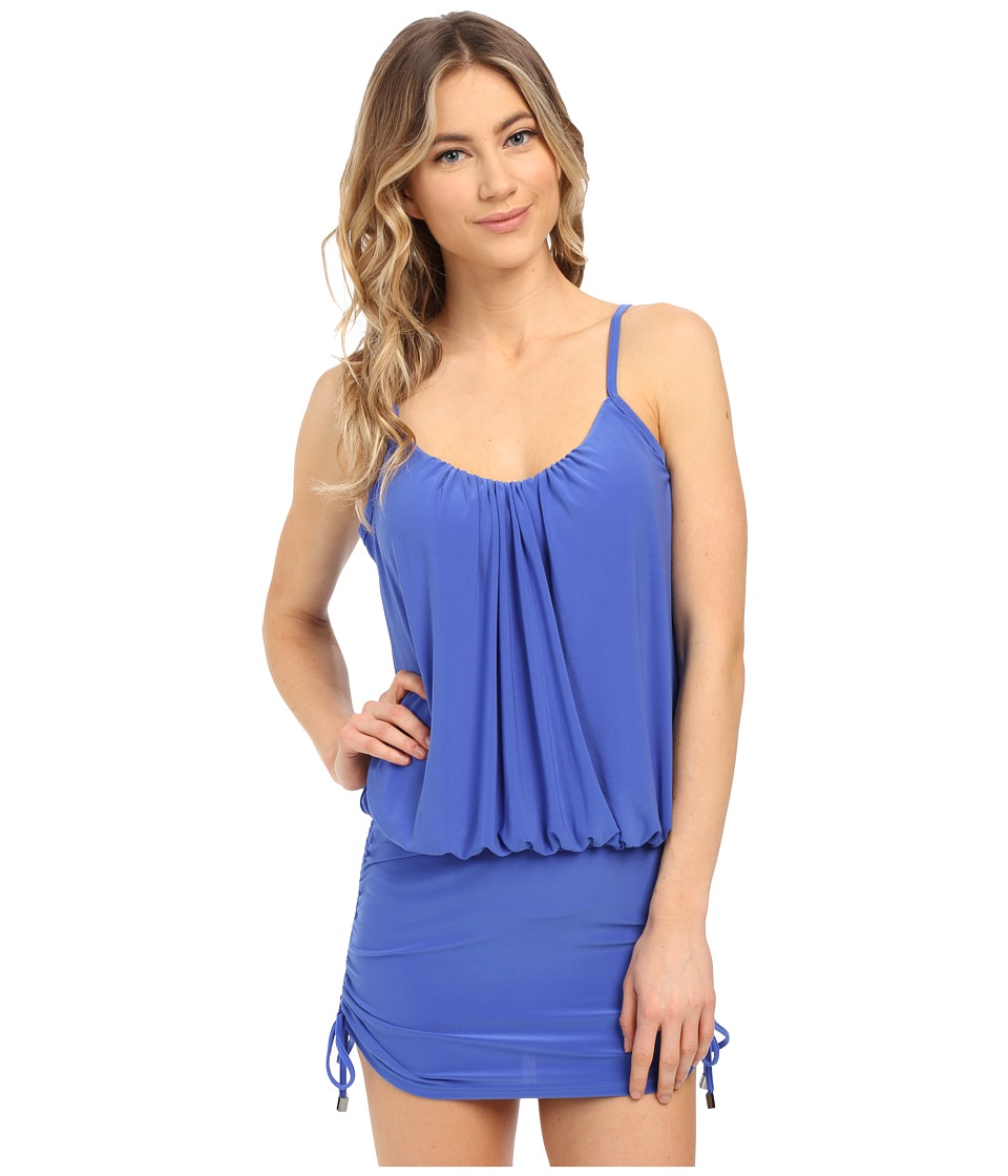 Magicsuit - Solid Shelly Underwire w/ Removable Modesty Pad Tankini Top (Electric Blue) Women's Swimwear