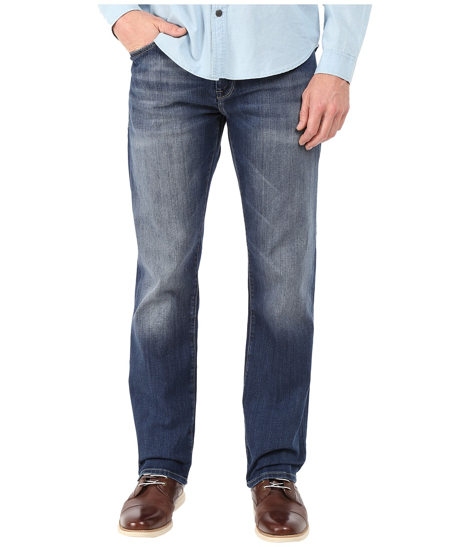 Mavi Jeans - Zach Regular Rise Straight in Mid Indigo Cooper (Mid Indigo Cooper) Men's Jeans