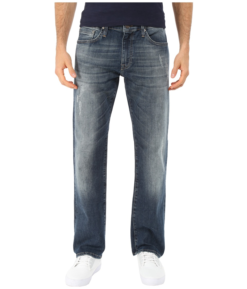Mavi Jeans Zach Regular Rise Straight in Shaded Brushed Williamsburg (Shaded Brushed Williamsburg) Men