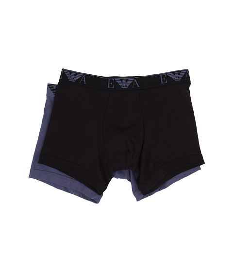 Emporio Armani - 2-Pack Stretch Cotton Boxer Brief (Blue/Navy) Men