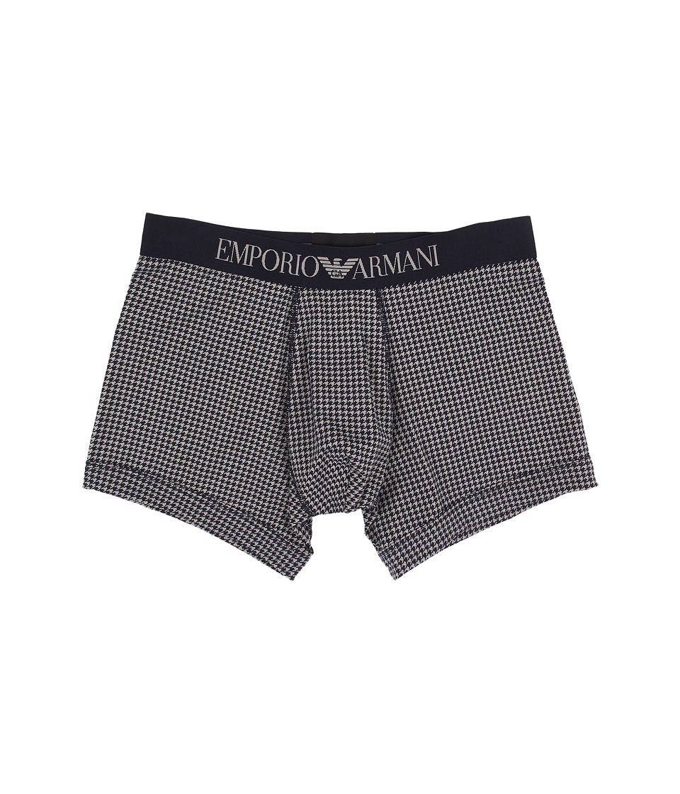 Emporio Armani - Classic Prints Boxer Brief (Smoke Marine) Men