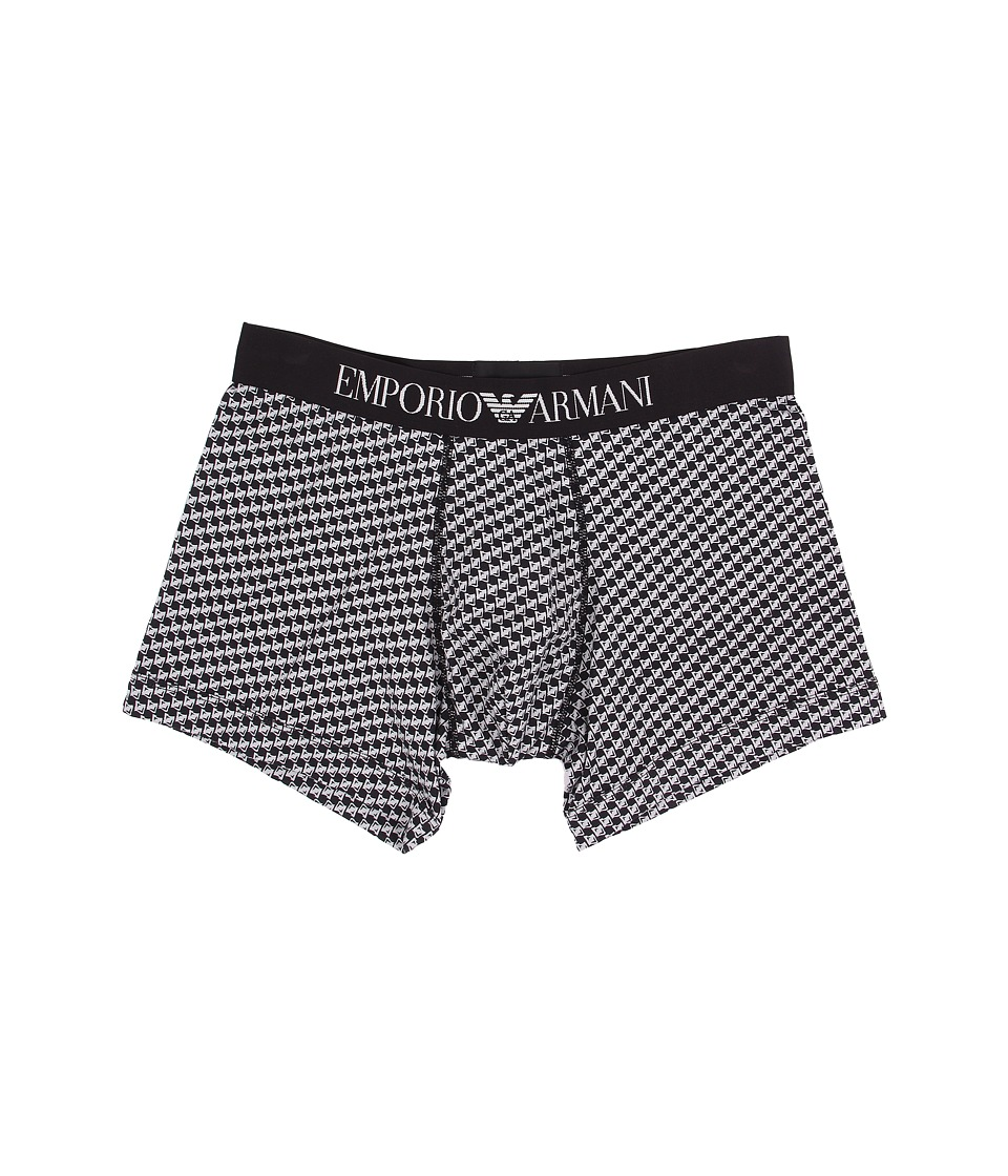 Emporio Armani - Classic Prints Boxer Brief (Black/Ice Check) Men's Underwear