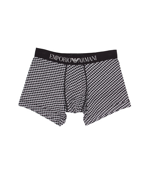 Emporio Armani - Classic Prints Boxer Brief (Black/Ice Check) Men