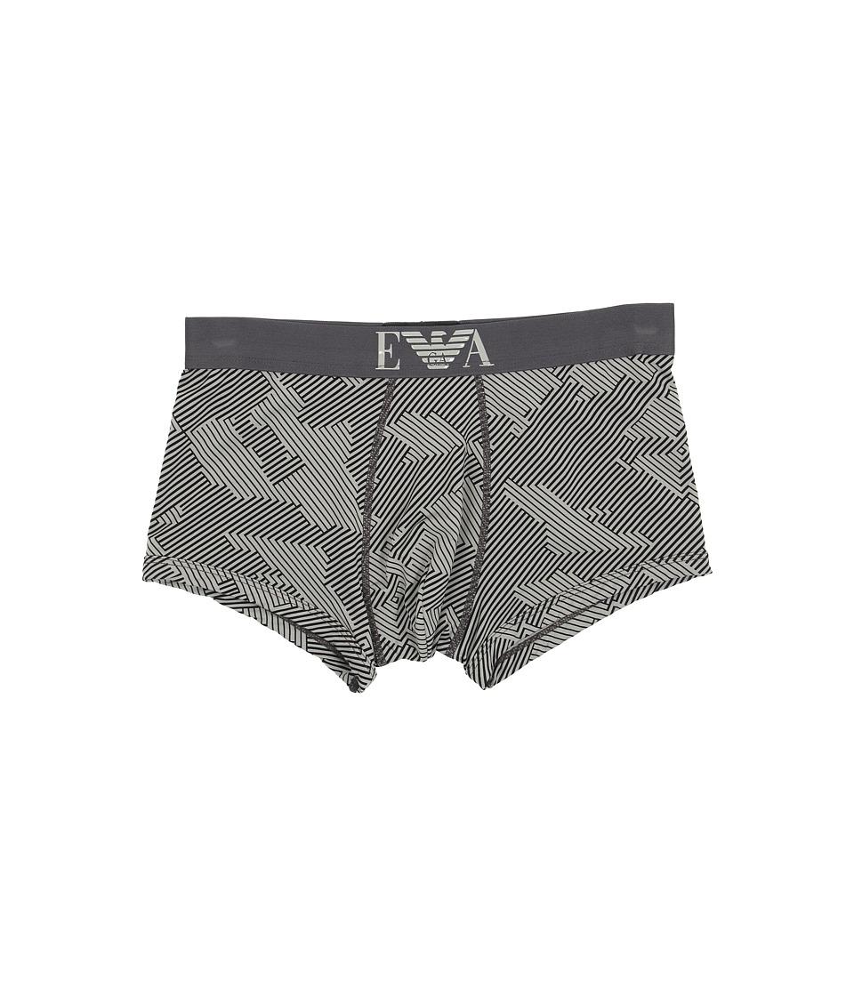 Emporio Armani - Printed Microfiber Trunk (Printed Smoke) Men's Underwear