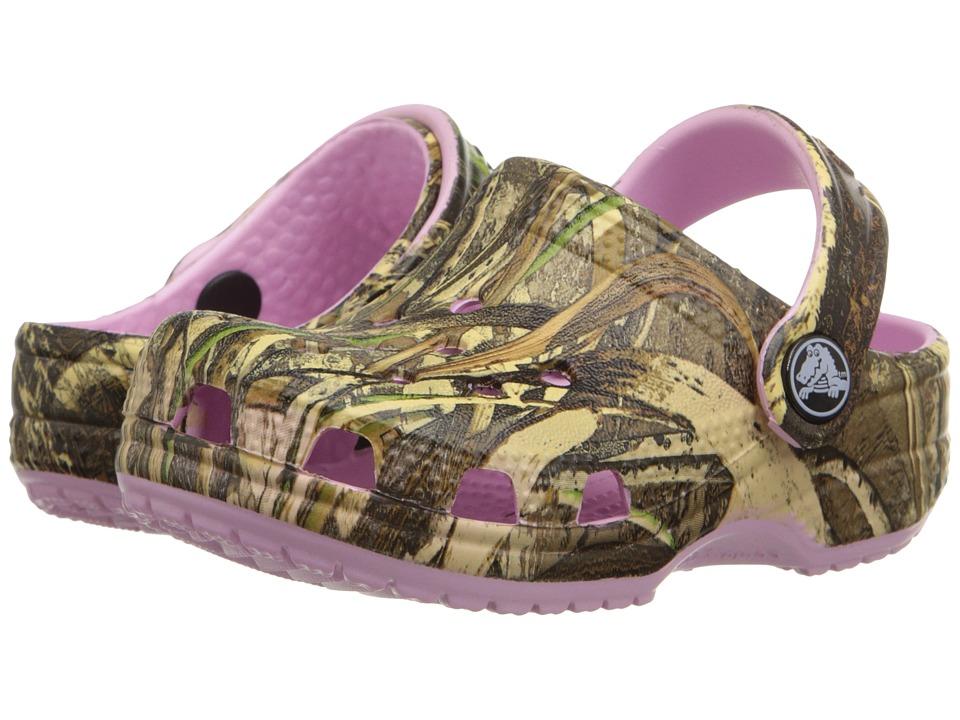 Crocs Kids - Crocs Littles Realtree Max-5 (Infant) (Ballerina Pink) Girls Shoes