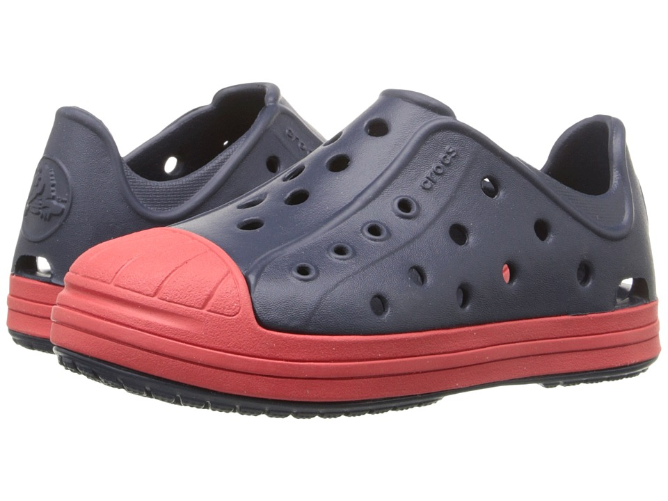 Crocs Kids - Bump It Shoe (Toddler/Little Kid) (Navy/Flame) Kids Shoes
