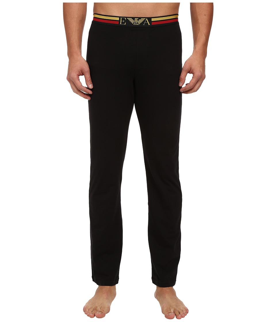Emporio Armani - Bicolor Logo Band Trousers (Black) Men's Underwear