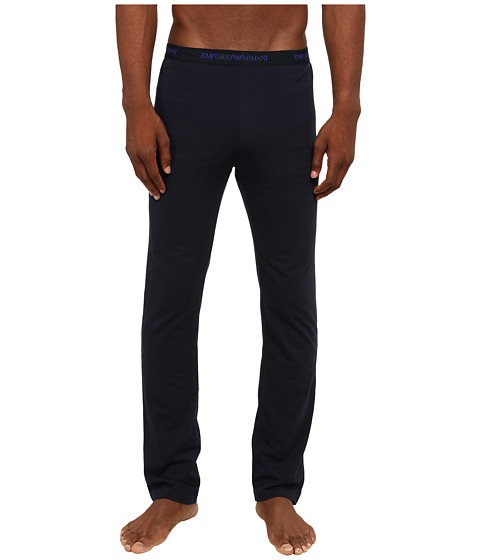 Emporio Armani - Stretch Cotton Lounge Trousers (Marine) Men