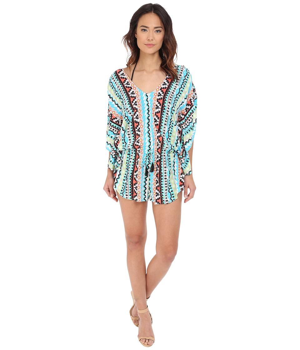 Seafolly City Limits Playsuit Cover-Up (Nectarine) Women