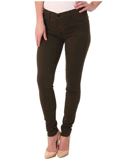 J Brand - Mid-Rise Luxe Sateen Super Skinny in Camo (Camo) Women