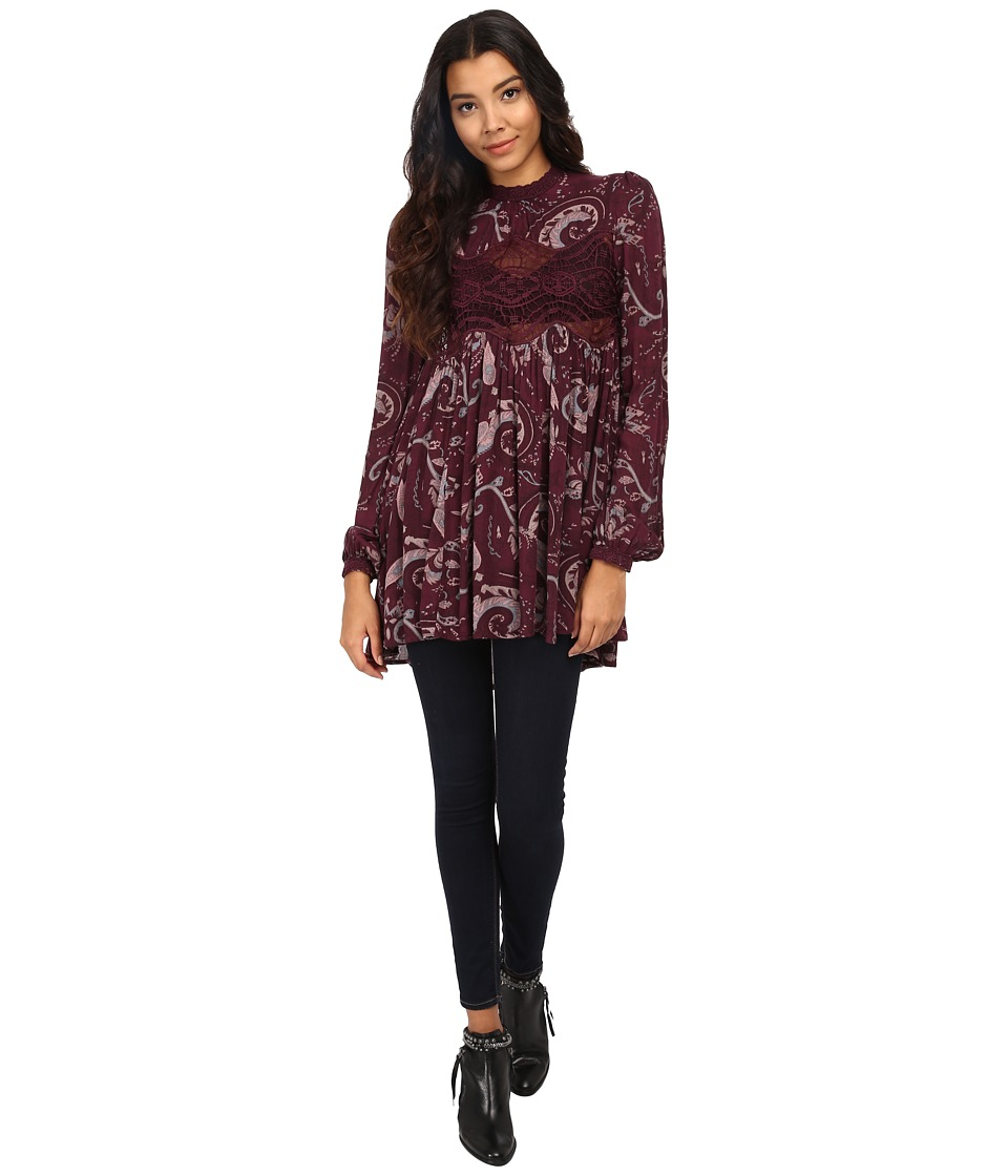 Free People - Snap Out of It Sweet Thing Top (Wine Combo) Women's Clothing