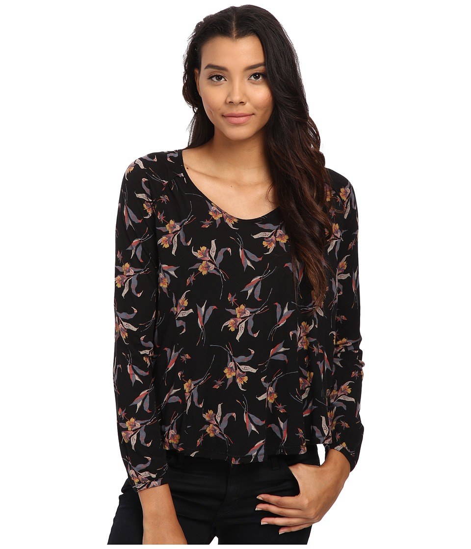 Free People - Fantasy Jersey Elsa Blouse (Black Combo) Women's Blouse