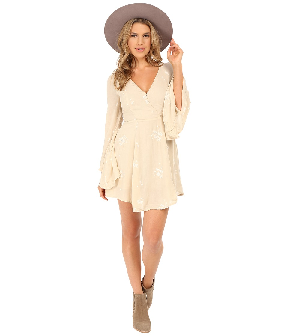 Free People - Jasmine Embroidered Mini Dress (Almond Combo) Women's Dress