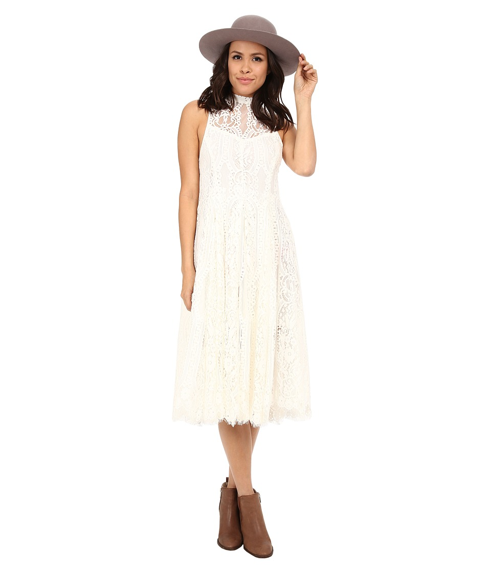 Free People - Angel Rays Trapeze Midi Dress (Ivory) Women's Dress