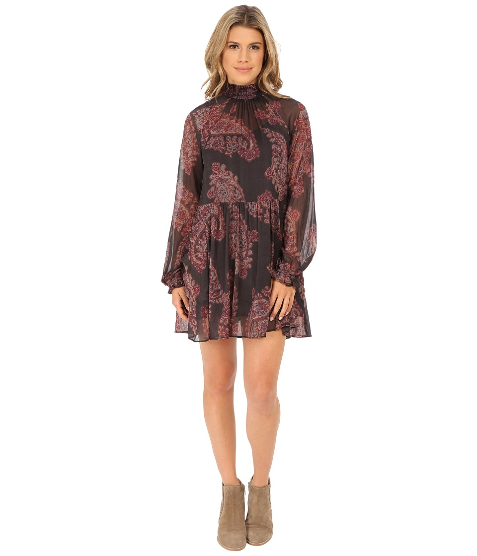 Free People - Forget Me Not Mini Dress (Black Combo) Women's Dress