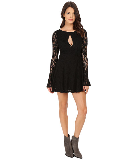 Free People - Teen Witch Lace Dress (Black) Women's Dress