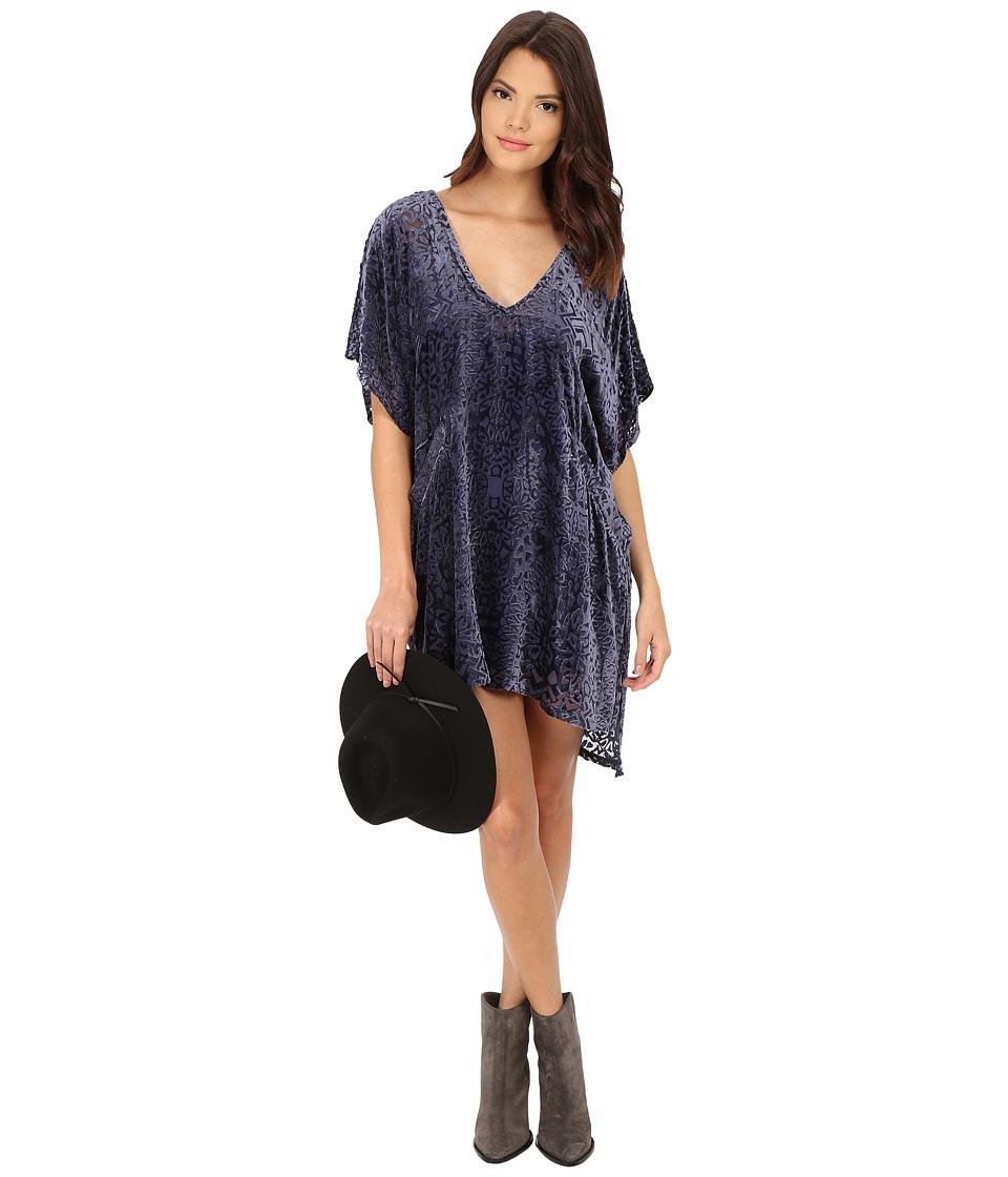 Free People - Room Of Shadows Shift Dress (Blue Ash) Women's Dress
