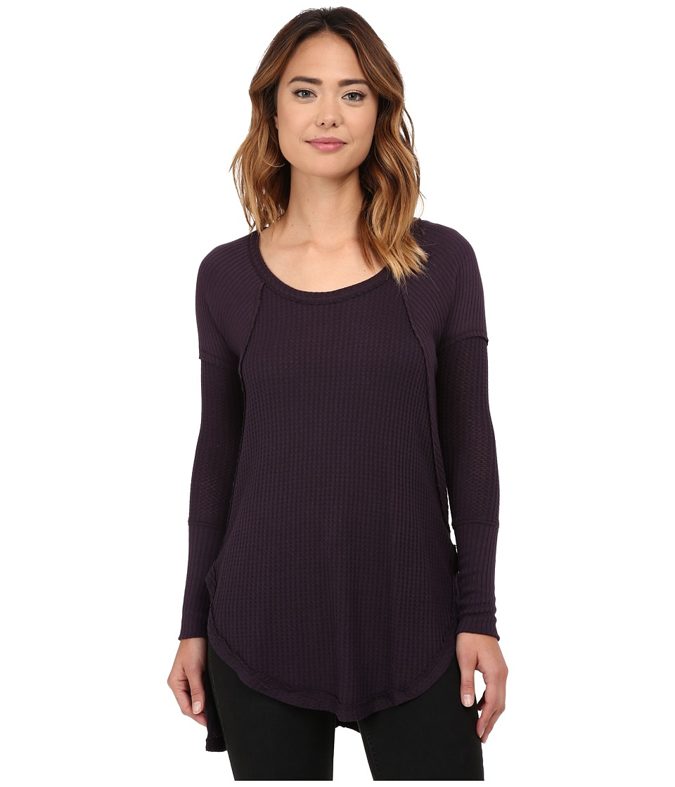 Free People - Drippy Thermal Ventura Thermal (Midnght Purple) Women's Clothing