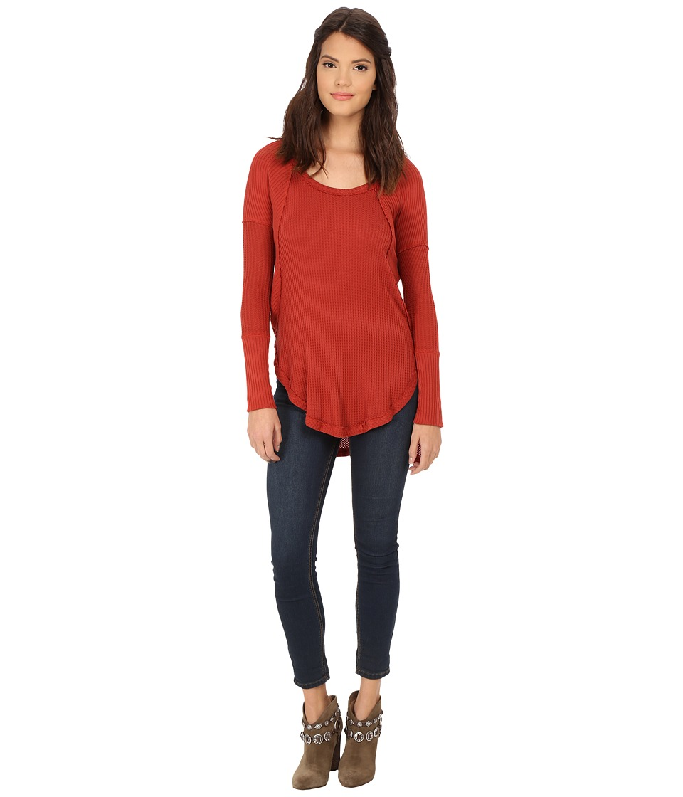Free People - Drippy Thermal Ventura Thermal (Rust) Women's Clothing
