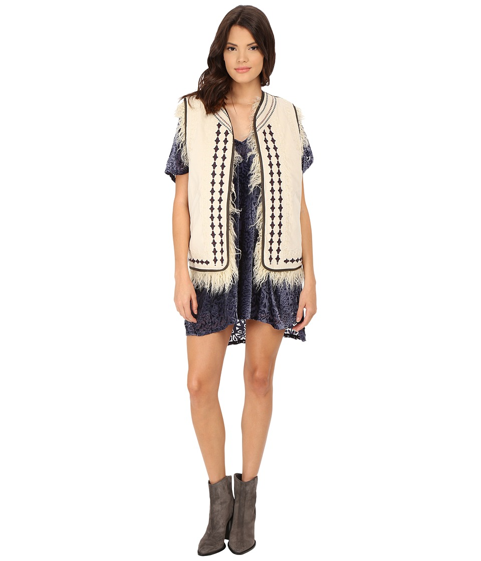 Free People - Reversible Embellished Vest (Almond) Women's Vest