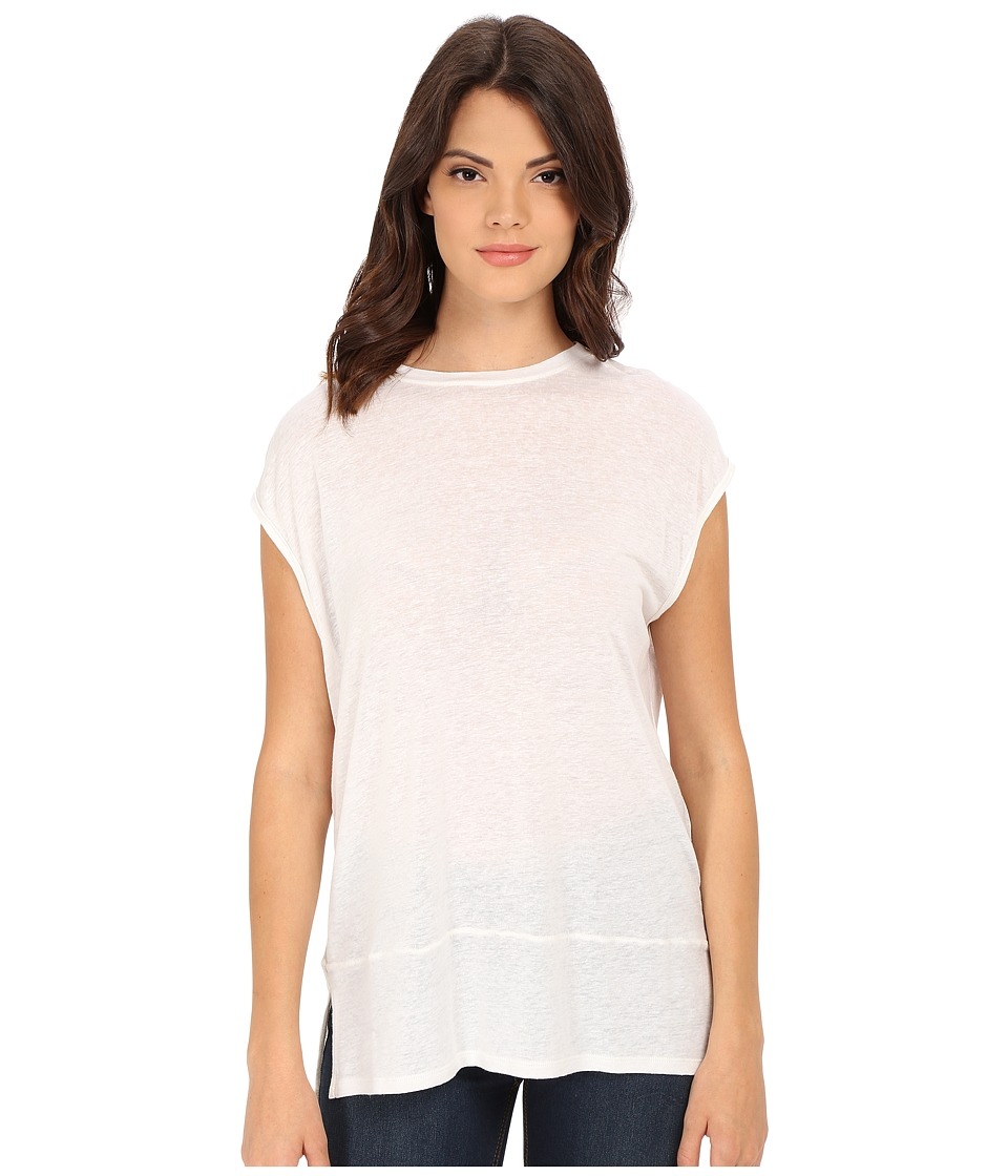 Free People - Biker Tee (White) Women's T Shirt