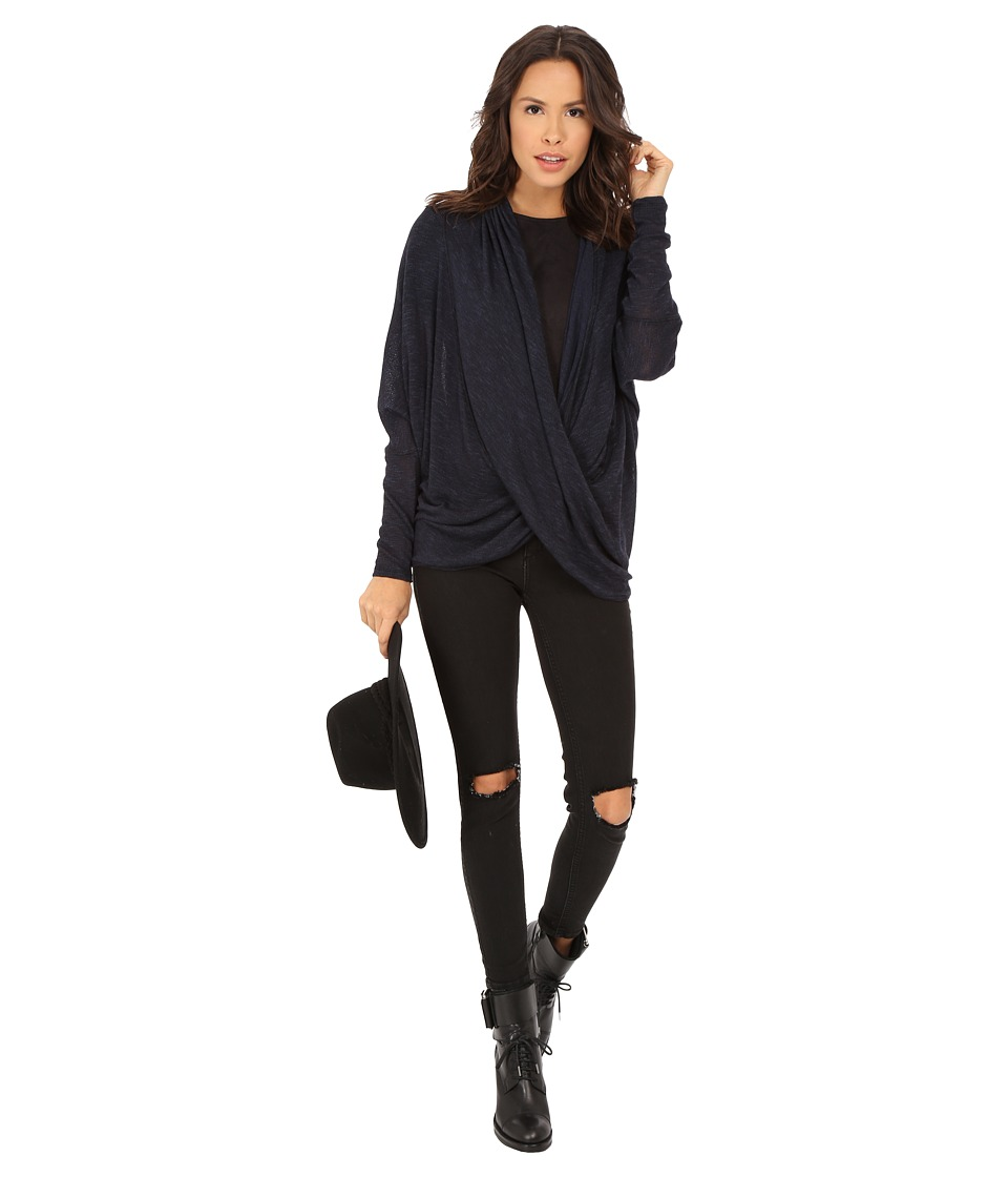 Free People - Sheila Hacci Top (Black Combo) Women's Sweater