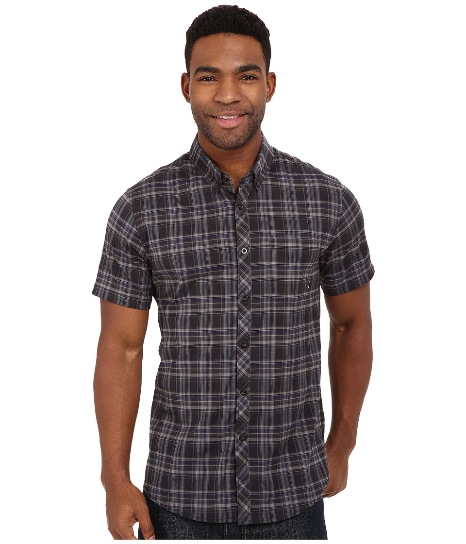 Billabong - Roadhouse Short Sleeve Woven (Black) Men's Short Sleeve Button Up