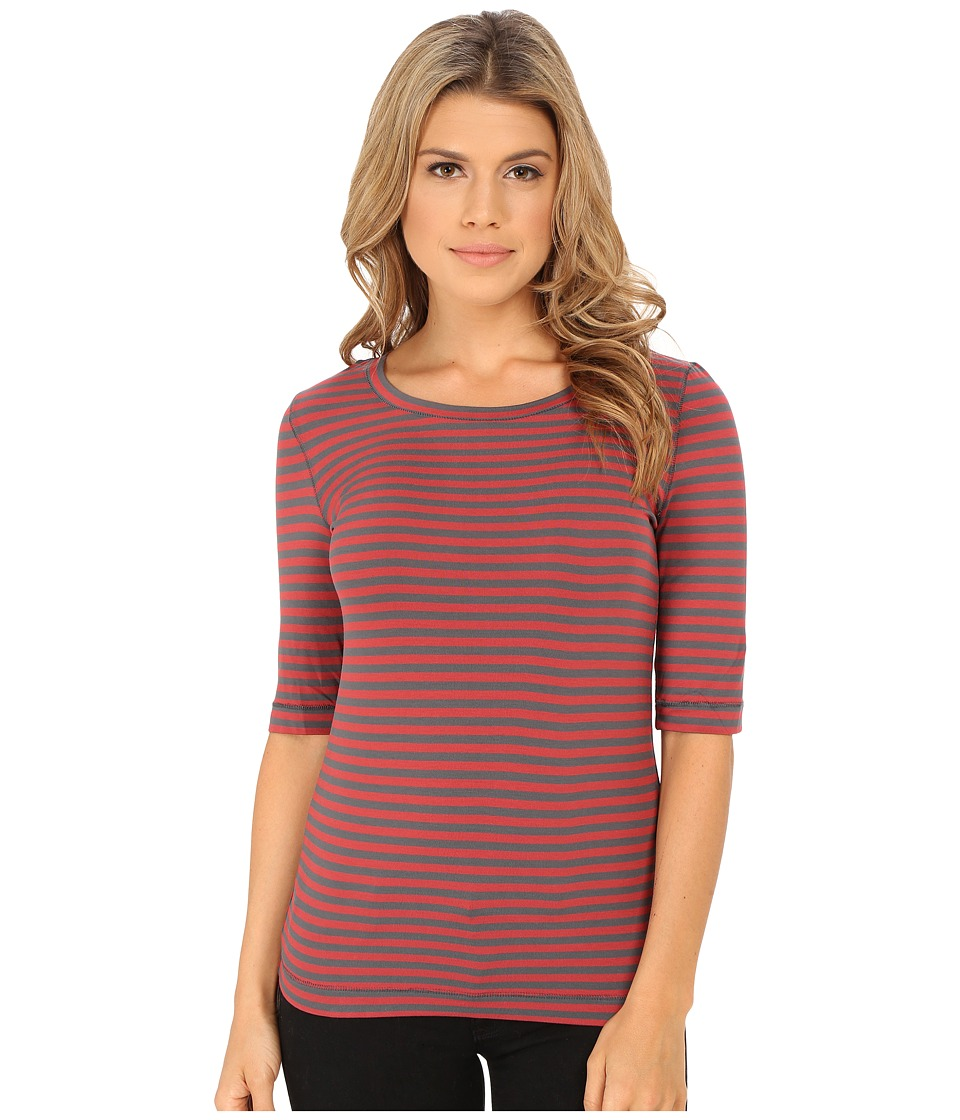 Free People - Leader Of The Pack Striped Tee (Cherry Combo) Women's T Shirt