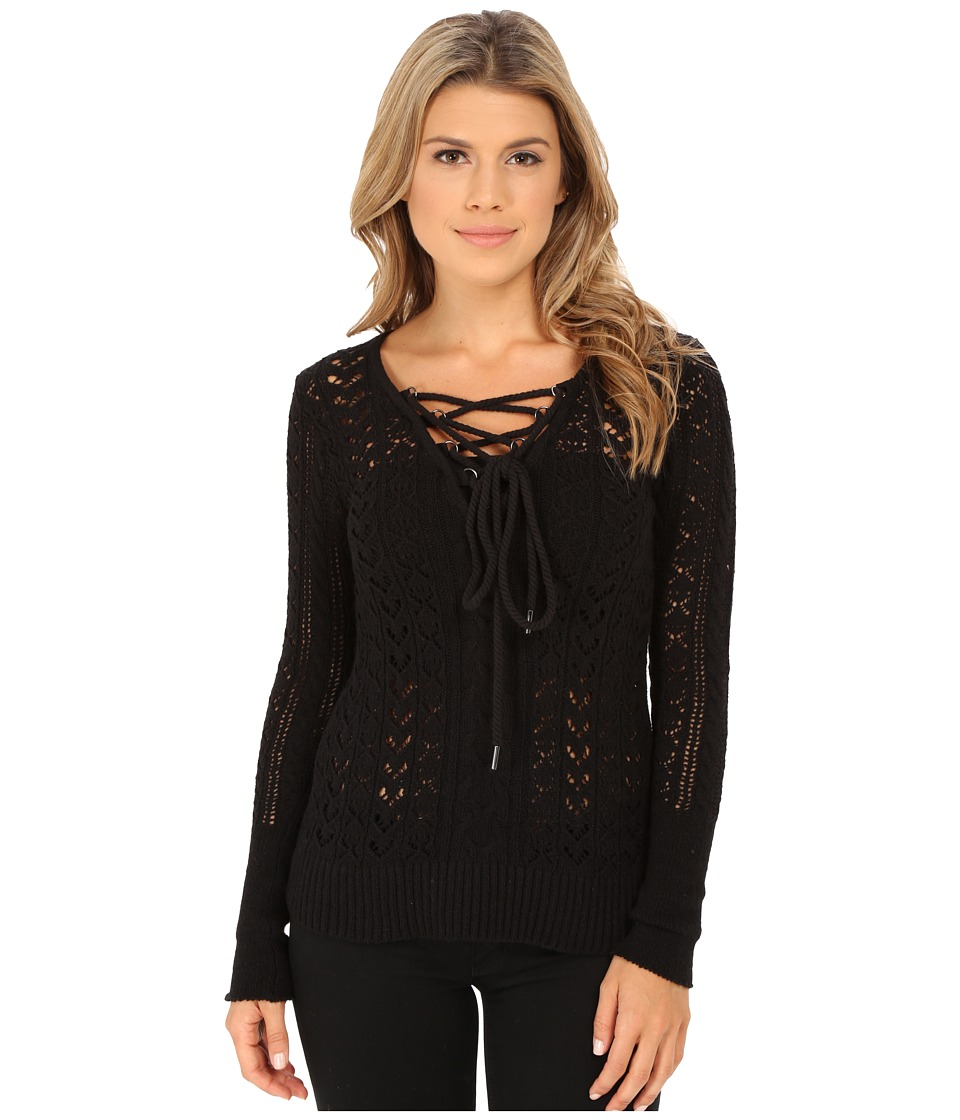 Free People - Cross Ties Ginger Sweater (Black) Women's Sweater